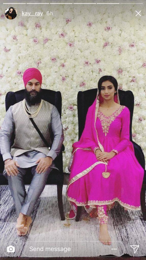 Jagmeet Singh and Gurkiran Kaur Sidhu