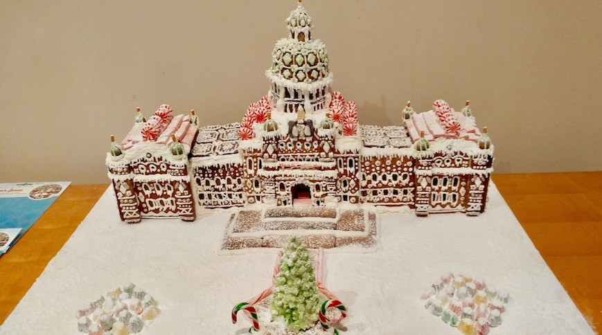 BC Parliament Gingerbread House