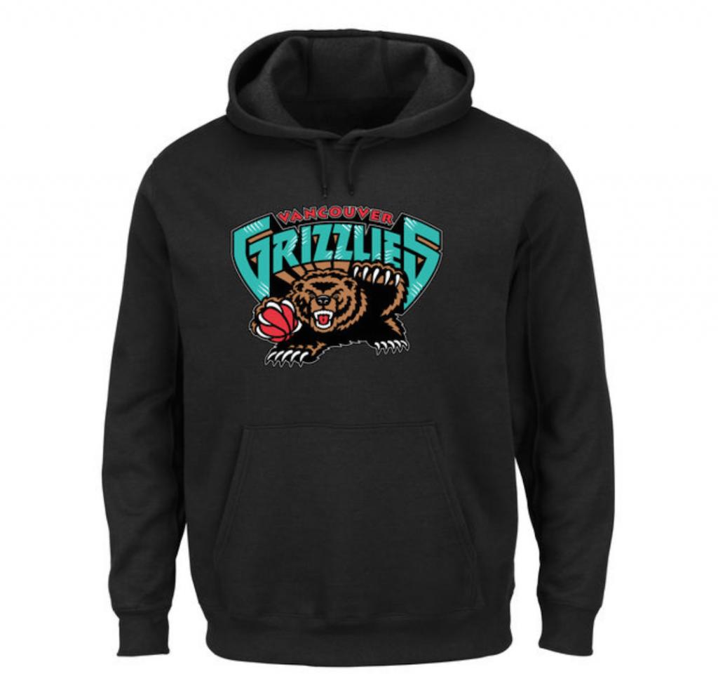 vancouver grizzlies hoodie