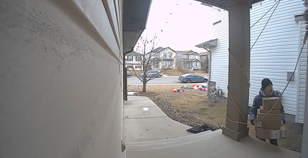 Grinch charged after lifting pile of packages from front door