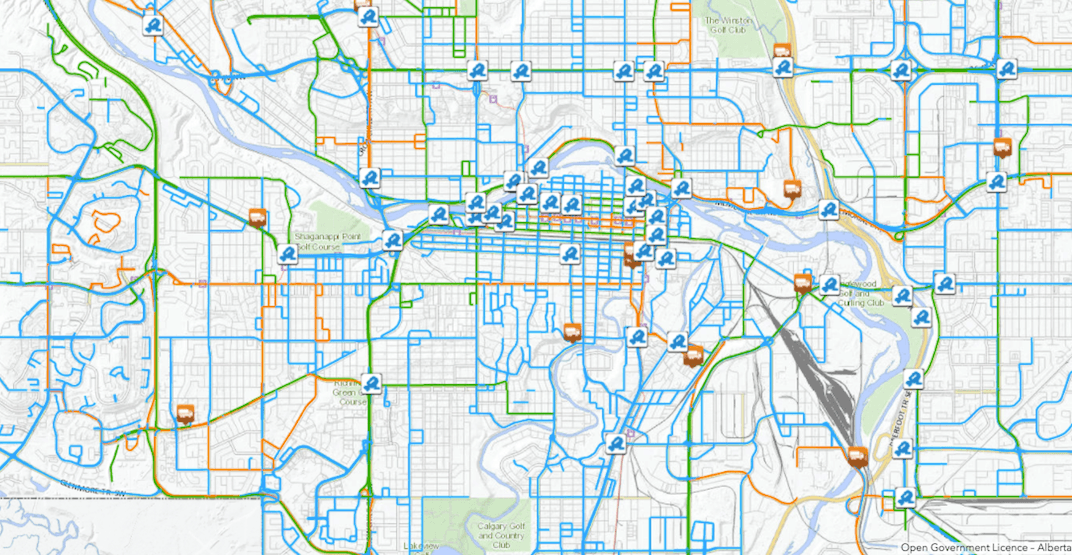 Where are all the snowplows? Calgary has a real-time map on plow positions and road updates