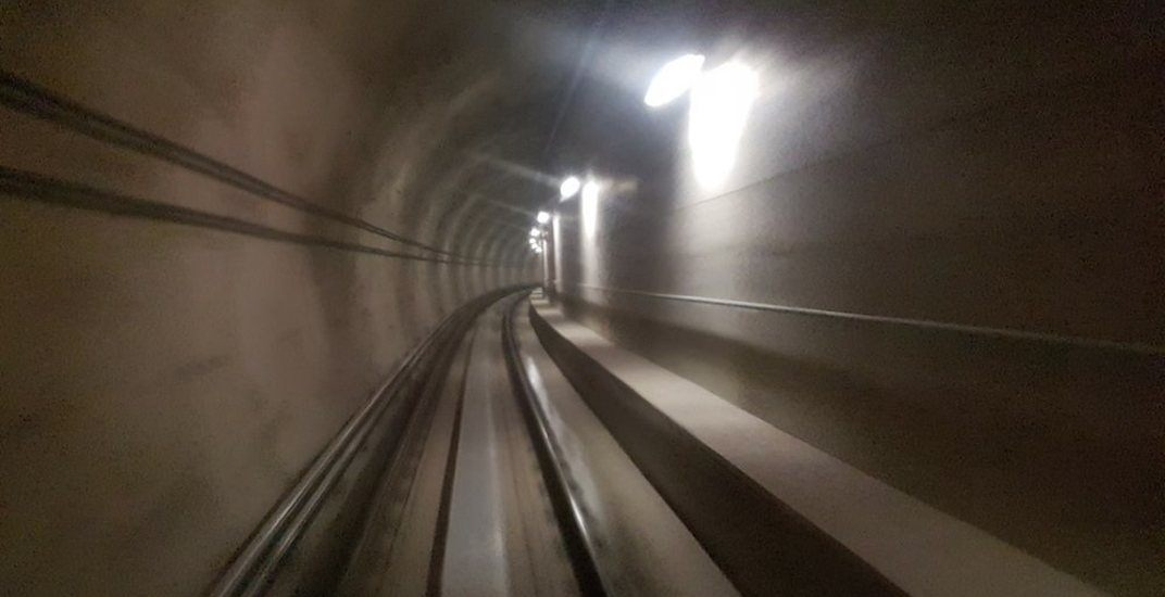 Burquitlam tunnel skytrain evergreen