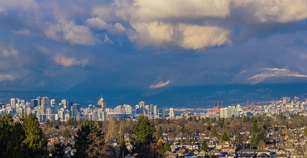 Vancouver skyline queen elizabeth park