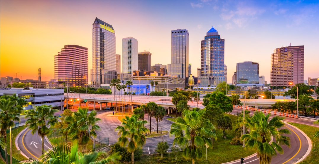 You can fly from Calgary to Tampa Bay, Florida for $299 roundtrip