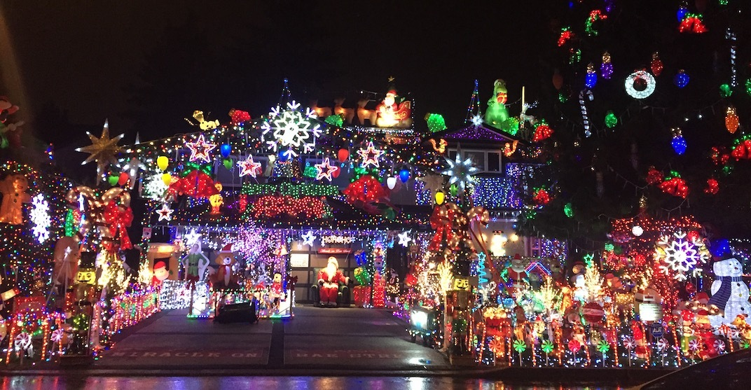 This house in Port Coquitlam has an amazing Christmas light display (PHOTOS)