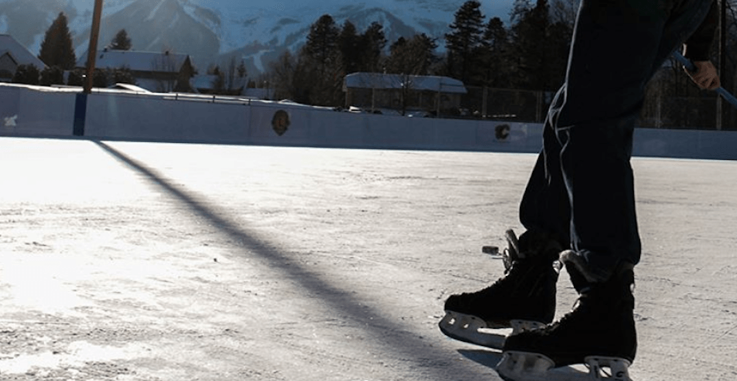 Fernie, BC officially opens new, NHL-donated outdoor ice rink (PHOTOS)