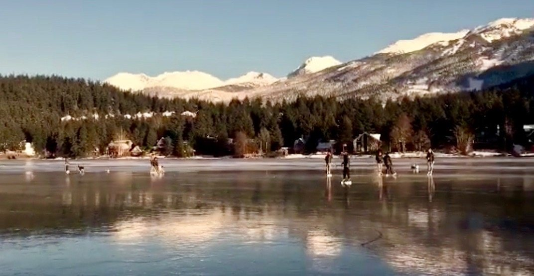 This may be the most magical game of pond hockey you've ever seen (VIDEO)