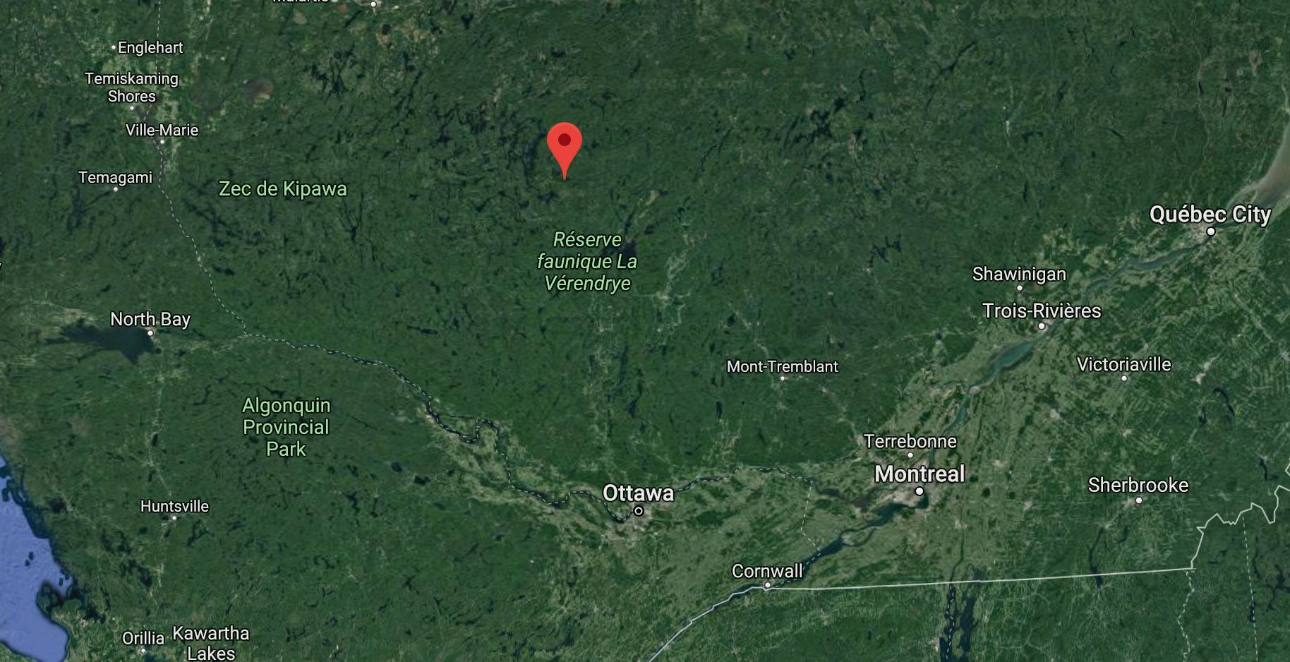 Location of earthquake near ottawa on december 28 2017 google maps