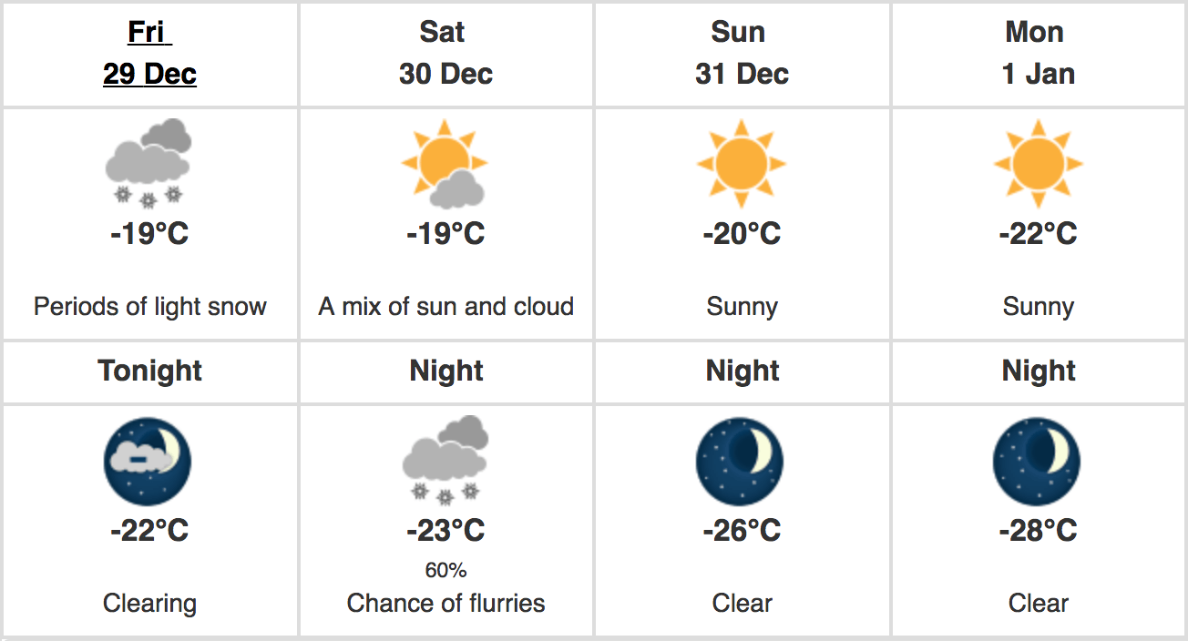 montreal weather new year's eve 2018