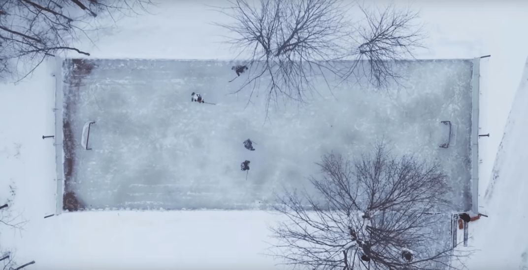 This amazing homemade hockey rink is every Canadian's backyard dream (VIDEO)