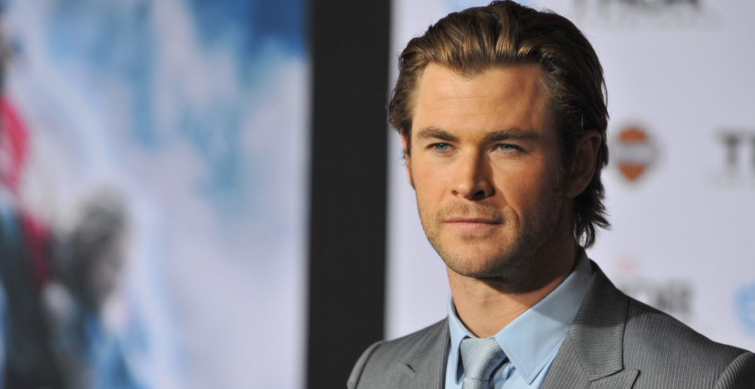 "Chris Hemsworth at the US premiere of his movie ""Thor: The Dark World"" at the El Capitan Theatre, Hollywood"