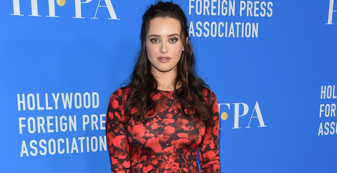 Katherine Langford arrives for the HFPA's Grants Banquet on August 2, 2017 in Beverly Hills, CA