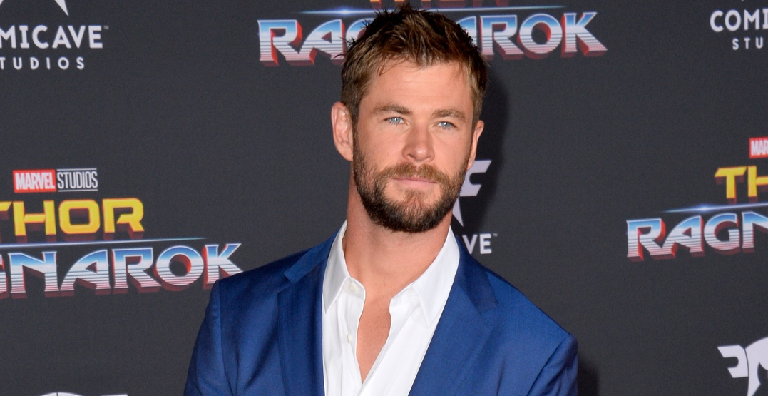 "Chris Hemsworth at the premiere for ""Thor: Ragnarok"" at the El Capitan Theatre"