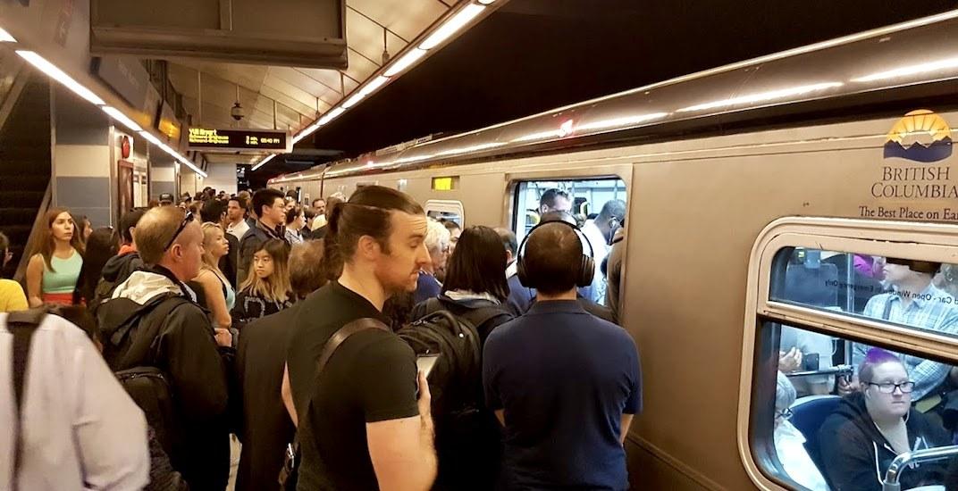 Skytrain canada line crowding platform