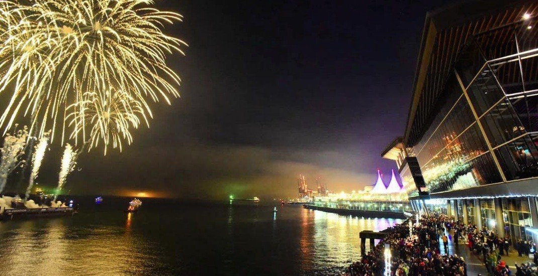 Concords new years eve vancouver fireworks 2017 seawall