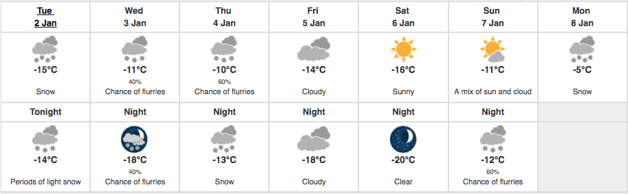 Montreal weather