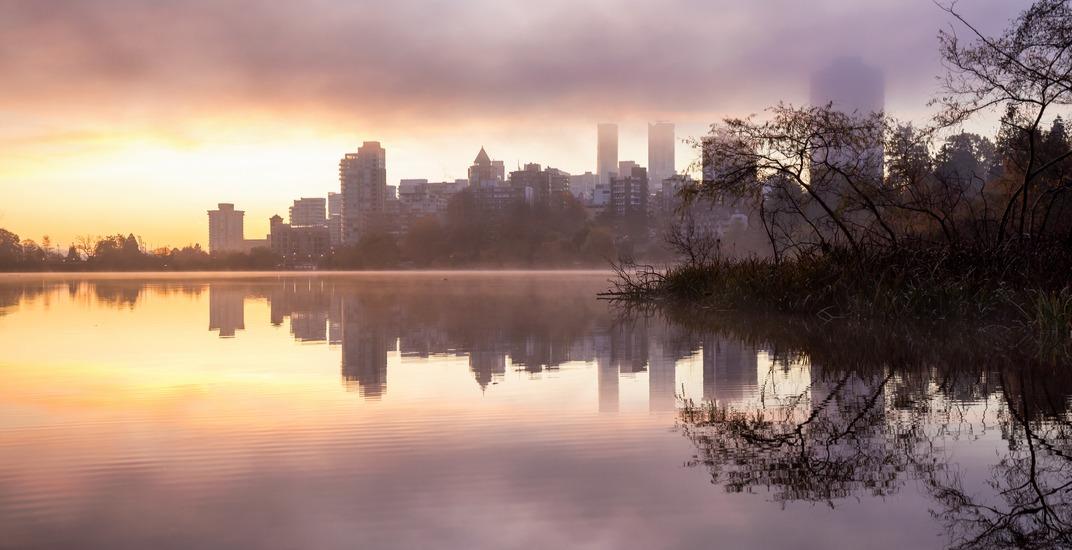 Vancouver skyline sunrise misty eb adventure photographyshutterstock