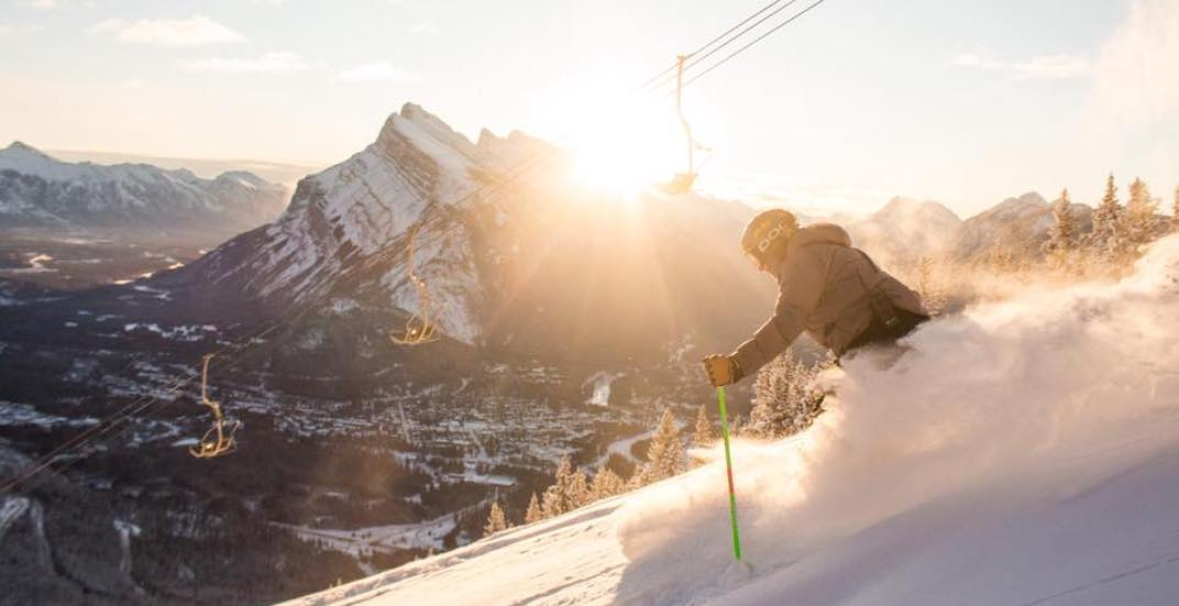 You can ski or snowboard at Mount Norquay for just $2 next week