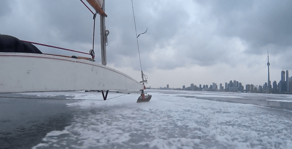 Ice boating