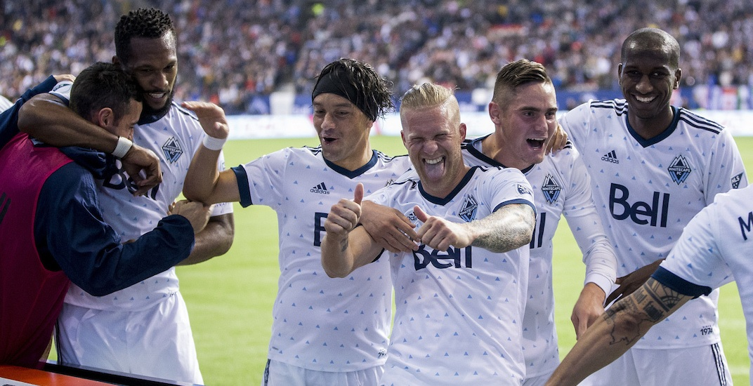 Whitecaps fc celebration