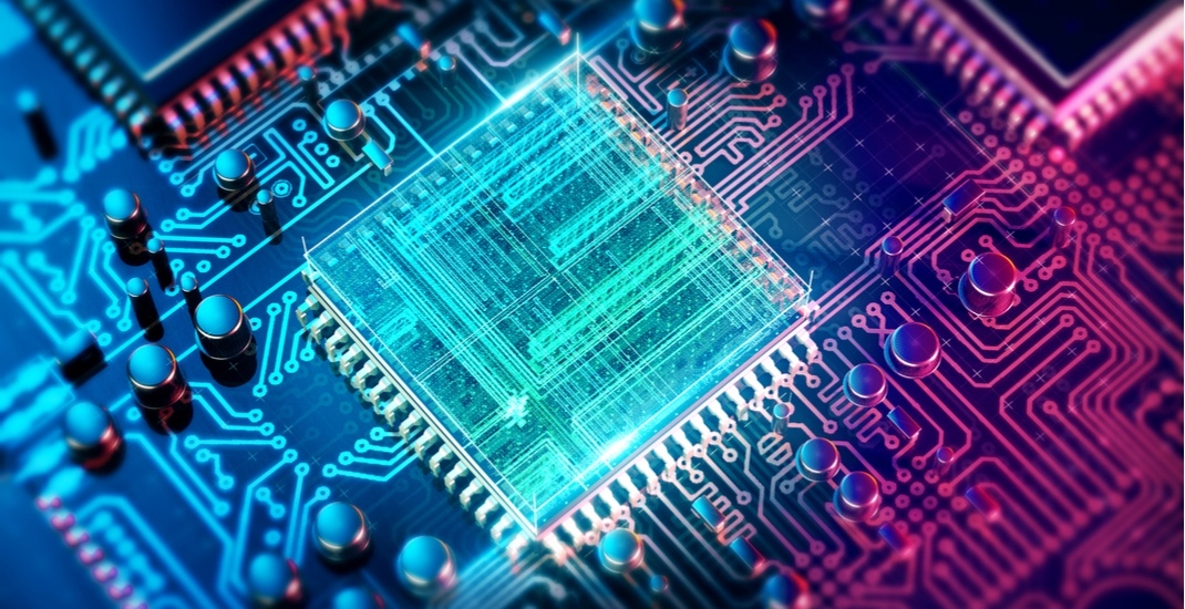 Abstract image of a computing microprocessor archy13shutterstock