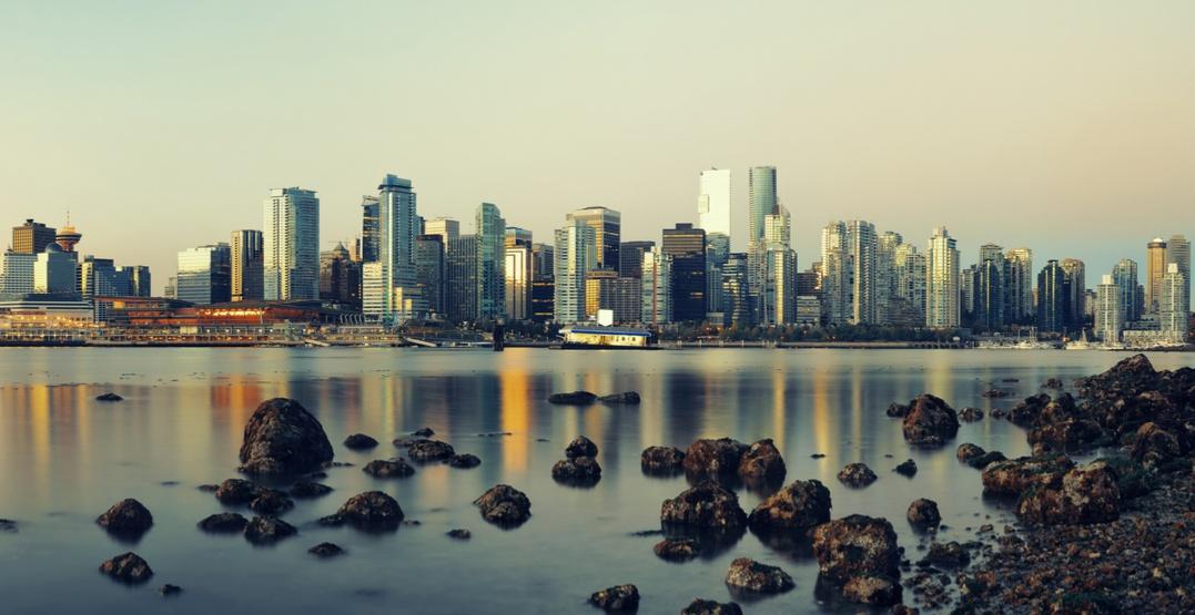 Vancouver skyline ocean