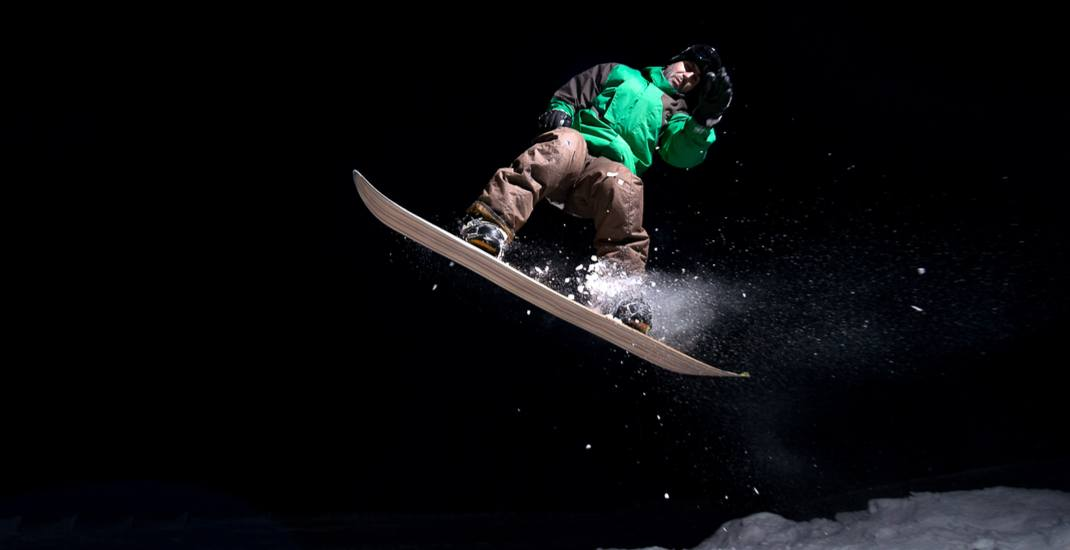 Night snowboard