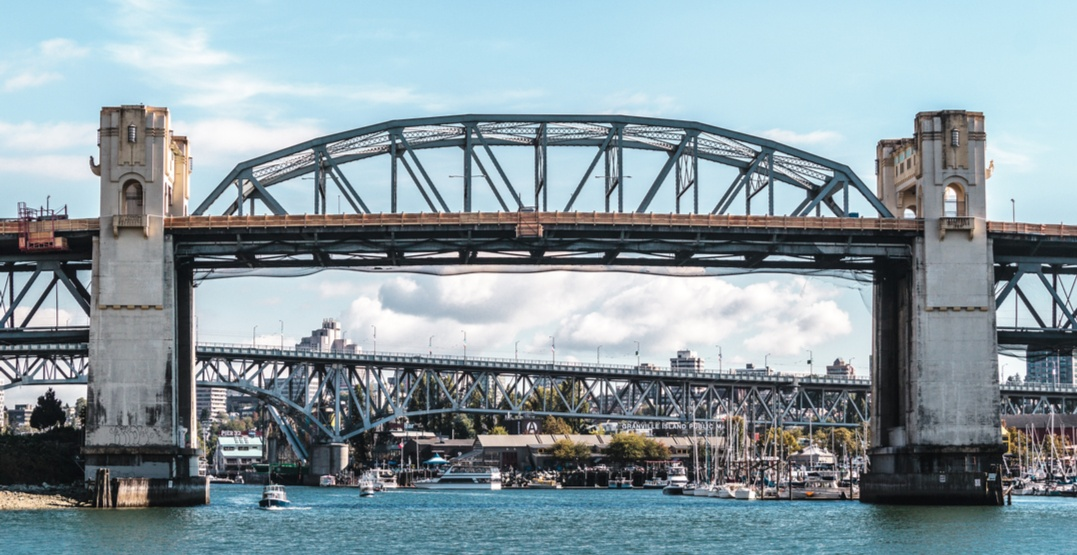 Vancouver skyline granville bridge