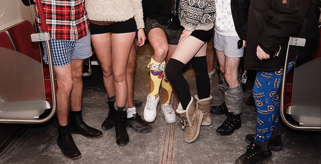The 2018 No Pants Subway Ride took over the TTC on Sunday (PHOTOS)