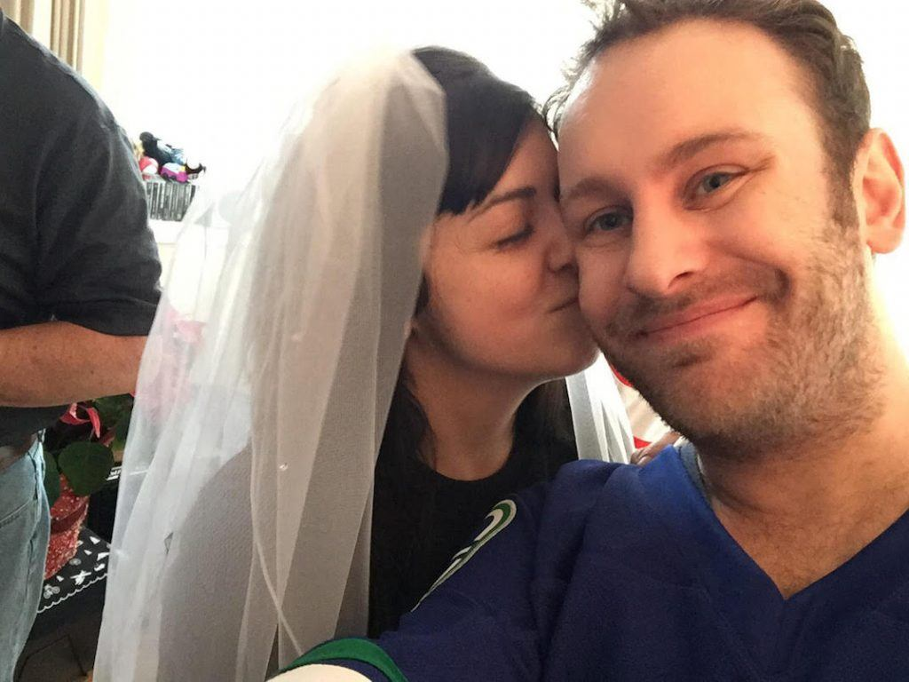 canucks bruins wedding