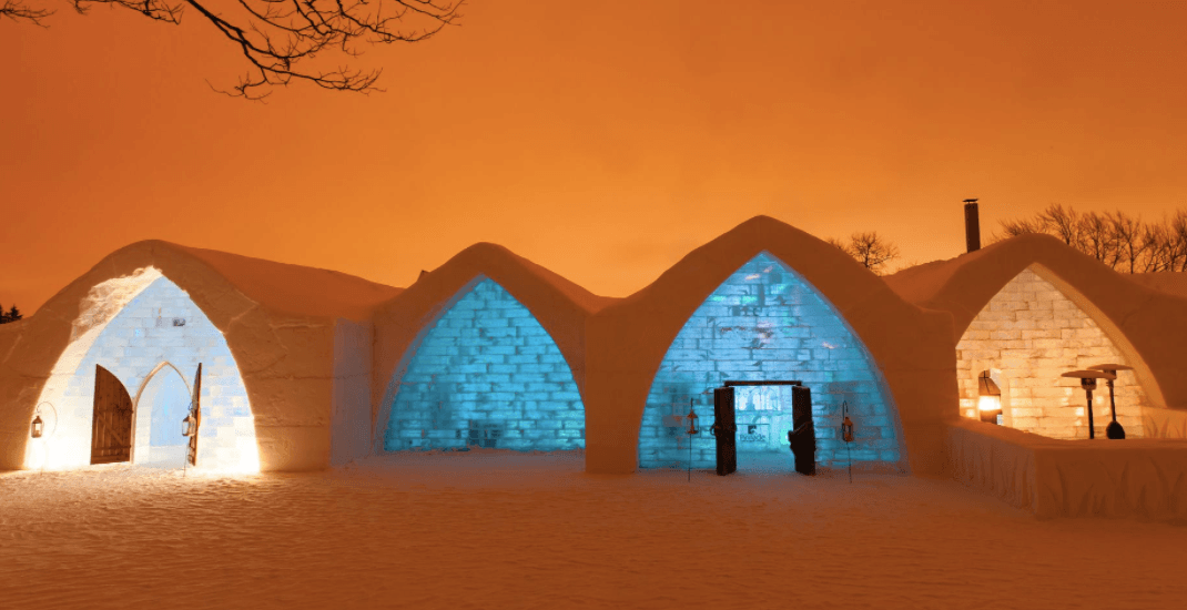 Canada's famous ice hotel forced to close after catching fire