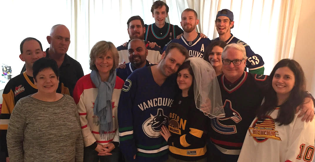 Canucks fan marries the enemy in unique hockey-themed wedding (PHOTOS)
