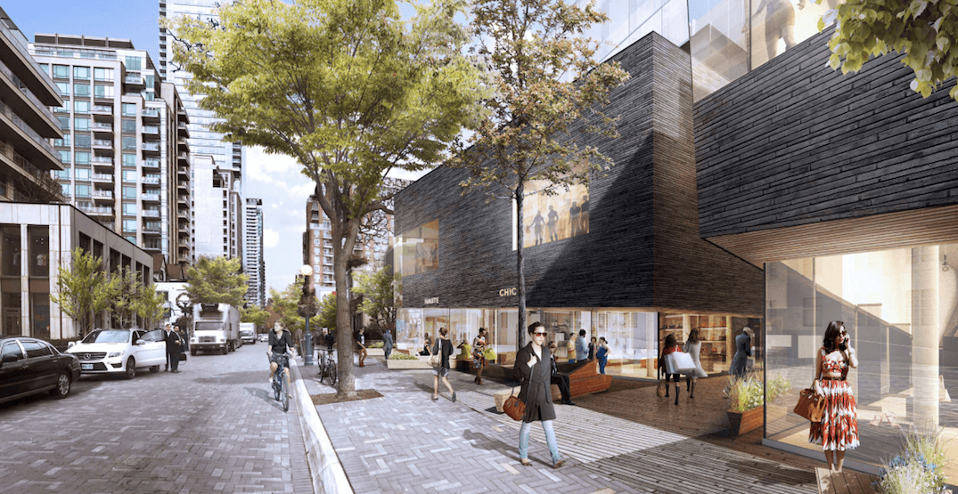 Yorkville retail redevelopment proposal includes pedestrian mews and courtyard (PHOTOS)