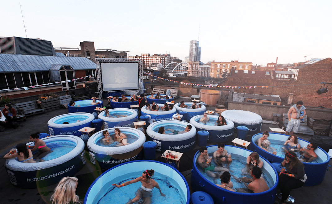 Hot tub movie nights are totally a thing and they're coming to Montreal