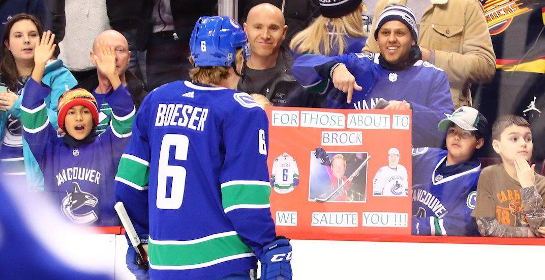 Boeser canucks fans
