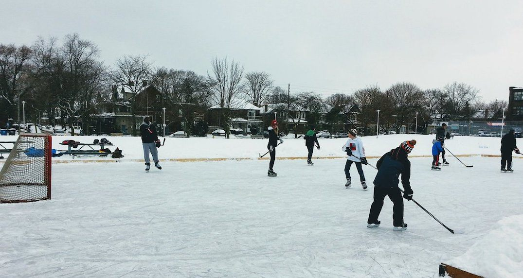 These are all the natural ice rinks on parklands throughout Toronto