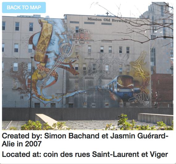 Montreal mural map