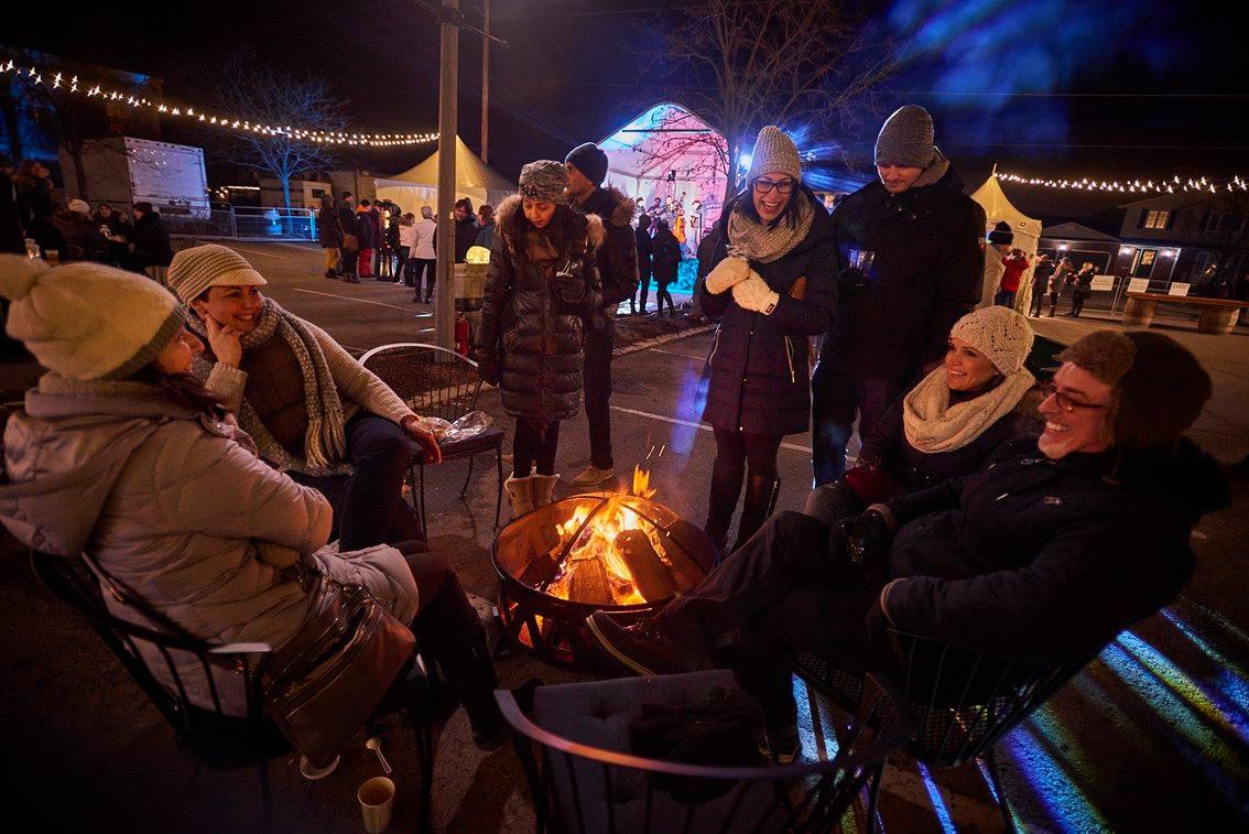 winter winefest firepit