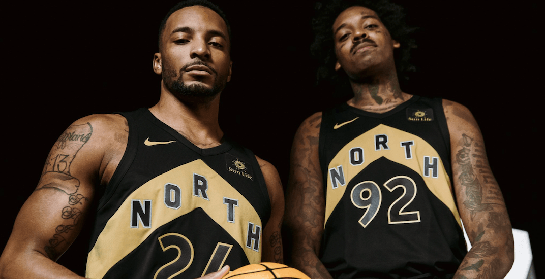 Raptors home court gets new design with introduction black and gold uniforms (PHOTOS)