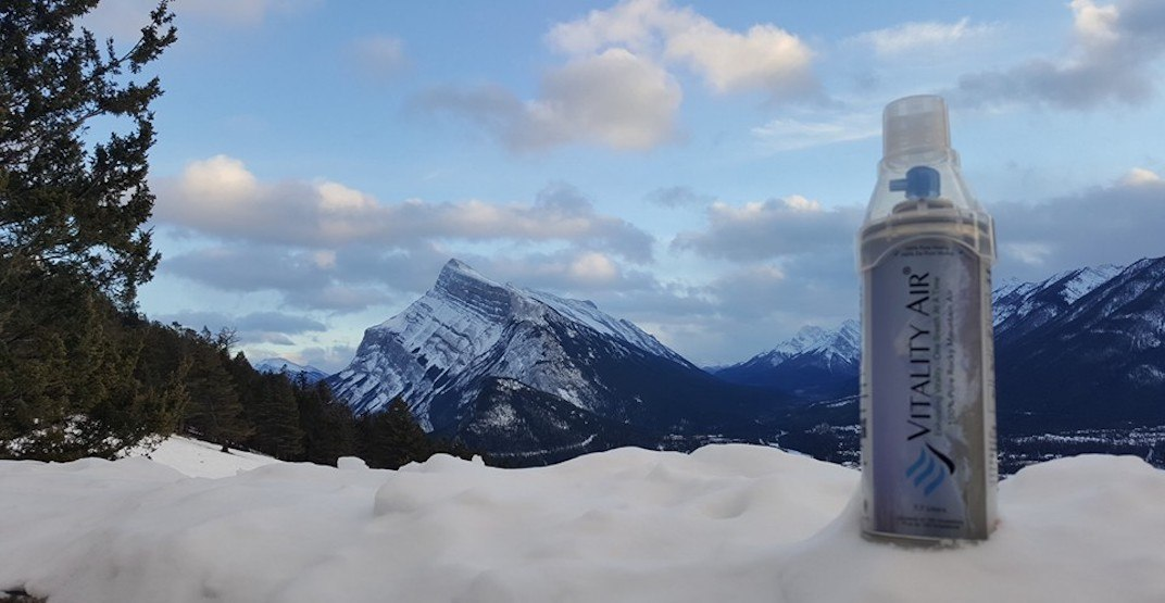 You can now buy a $20,000 bottle of Banff air