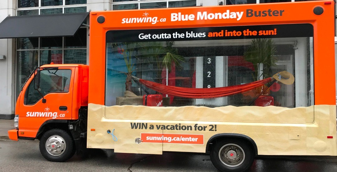 There's a mobile beach hitting the streets of Toronto today