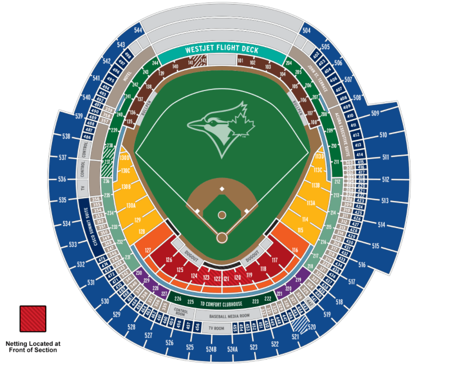 rogers centre map