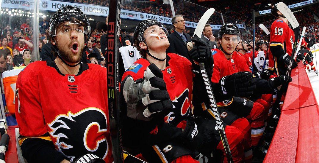 Flames bench