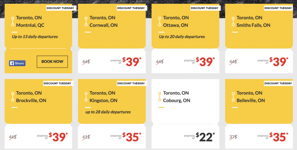 VIA rail Toronto deals