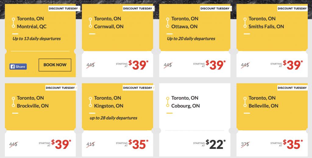 VIA rail Toronto deals