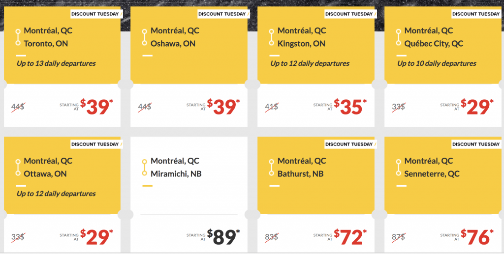 VIA rail Montreal deals