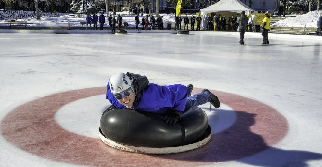 Human Bonspiel 2019 at Olympic Plaza will have YOU curling down the ice