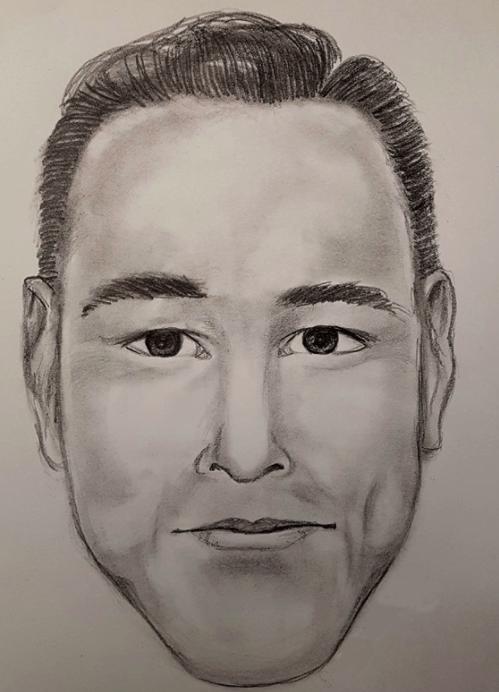 A composite sketch of the suspect (Surrey RCMP)