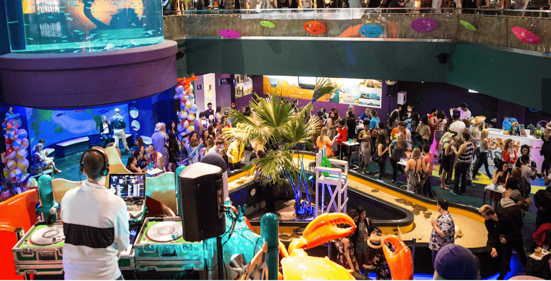 Ripley's Aquarium is throwing an epic indoor beach party this month