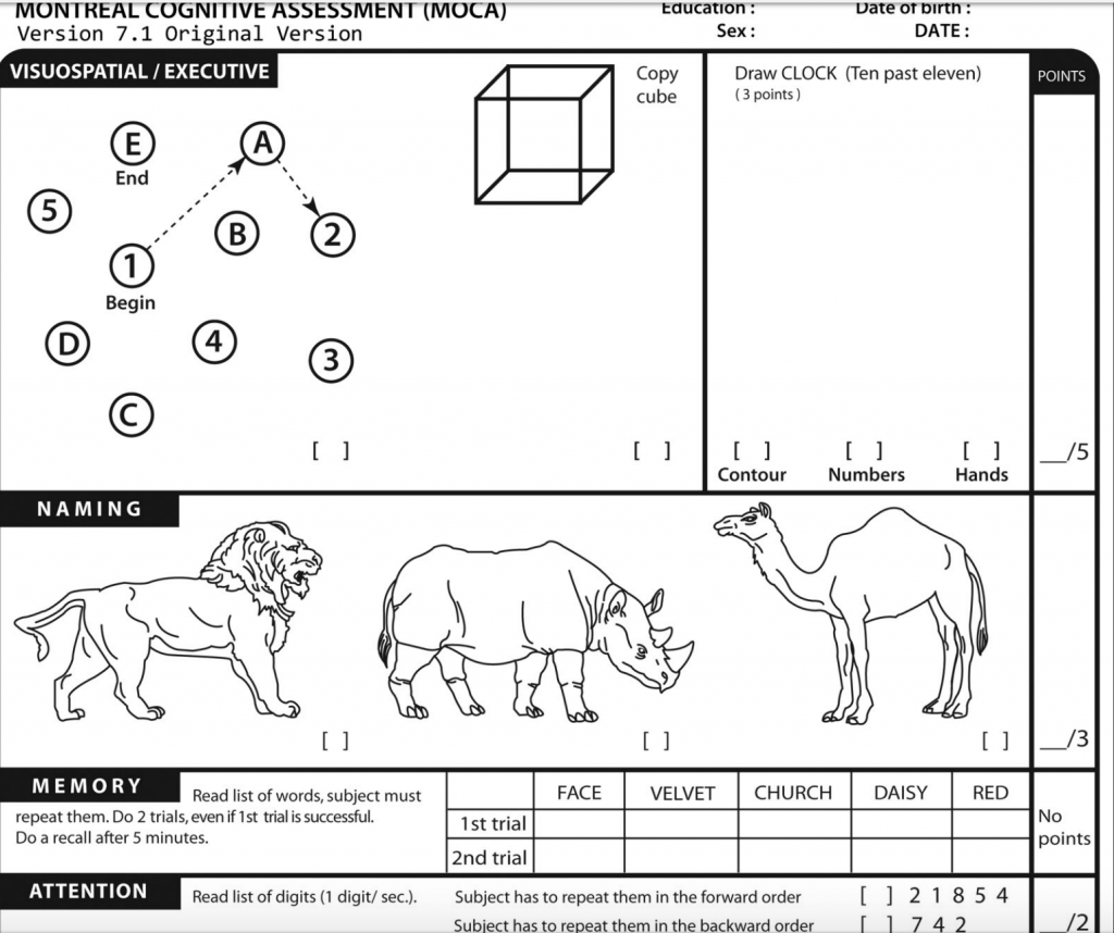 Montreal Cognitive Assessment